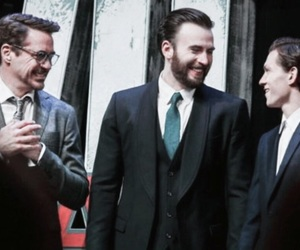 chris evans and tom holland image