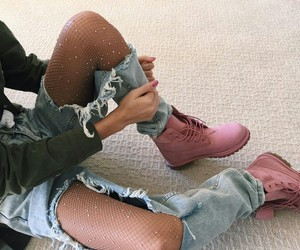 and, pink, and shoes image