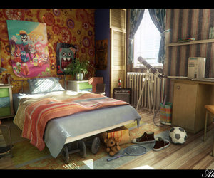 cool, bedroom, and room image