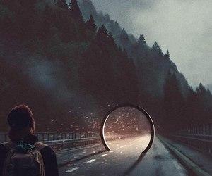 carretera, caminante, and via image