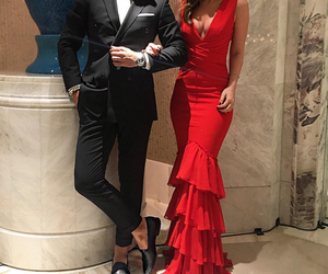 couple, dress, and red image
