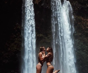 waterfall, bikini, and alexis ren image