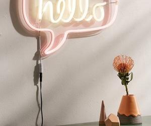 hello, neon, and neon lights image