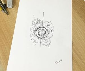 draw, planets, and tattoo idea image