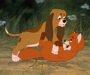 1981, disney, and the fox and the hound image