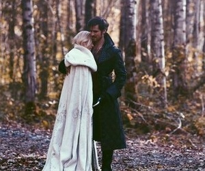 emma swan, captain swan, and once upon a time image