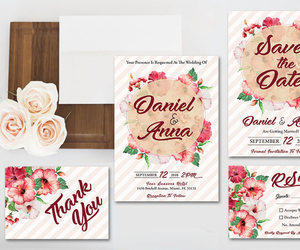 save the date, thank you card, and printable invitation image