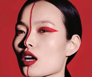 red, beauty, and makeup image