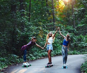adventure, best friends, and skate image