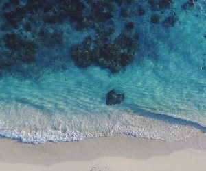 beach, blue lagoon, and paradise image
