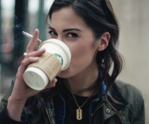 girl, coffee, and starbucks image