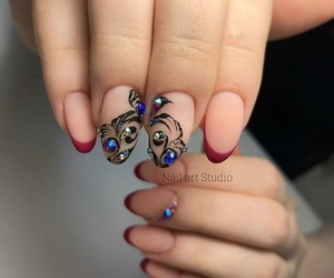 diamonds, fashion nails, and french nails image