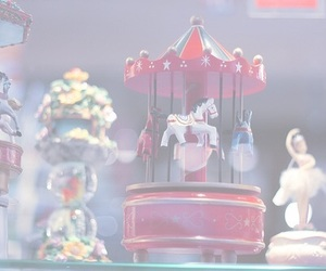 pastel, carousel, and horse image