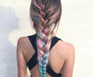 blue, braided, and colour image