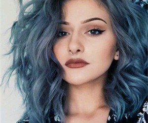 blue, cool, and hairs image