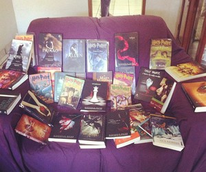 books, fallen, and harry potter image