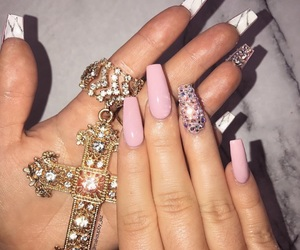 nails, fashion, and makeup image