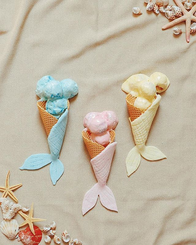 ice cream and mermaid image