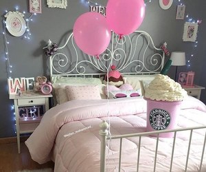 room, starbucks, and pink image