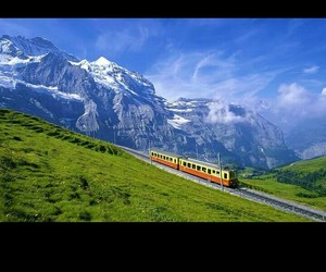 mountain, view, and switzerland image