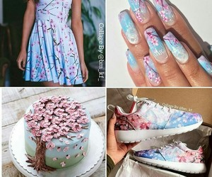 aesthetic, cake, and cherry blossom image