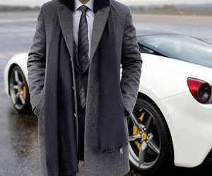coat, elegance, and ferrari image