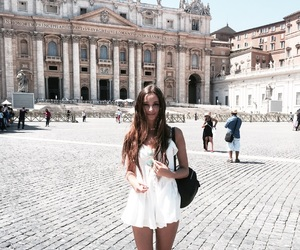 dress, italy, and rome image