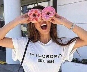 donuts, girl, and tumblr image