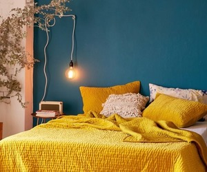 yellow, bedroom, and home image