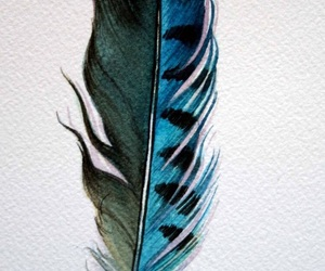 bird, blue, and feather image