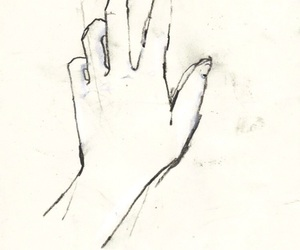 stay, hand, and drawing image