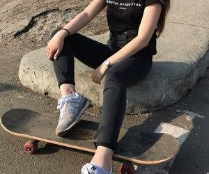 aesthetics, pastel, and skate image