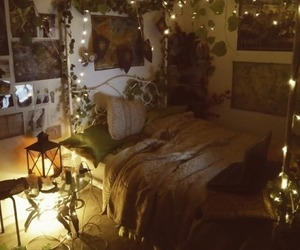 bedroom, decor, and hipster image