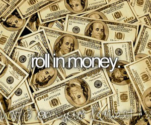 before i die, money, and bucket list image