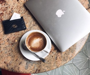 blogging, coffee, and drink image