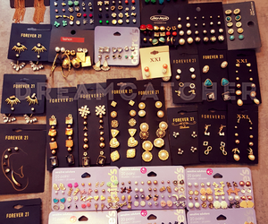 earrings, girly, and jewellery image