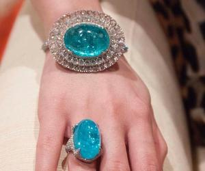blue, jewellery, and diamonds image