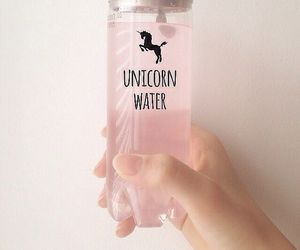 unicorn, pink, and water image
