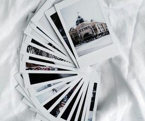 photography, polaroid, and white image