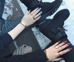 nails, black, and boots image