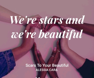 quotes, scars to your beautiful, and alessia cara image
