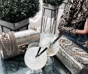 drink, bags, and fashion image