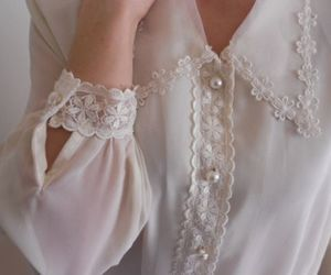 fashion, white, and blouse image