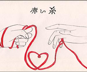 akai ito, art, and manga image