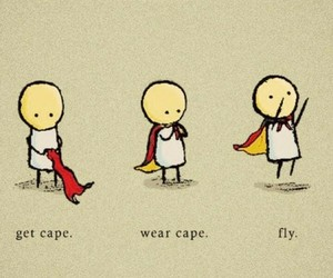 fly, get cape, and wear cape image