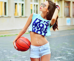 girl, sport, and summer image