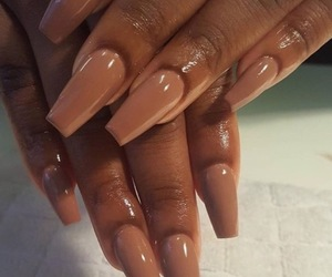 nails, Nude, and makeup image