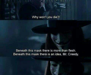 v for vendetta, movie, and quotes image