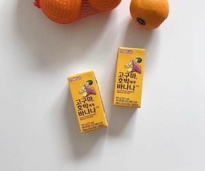 food, milk, and orange image