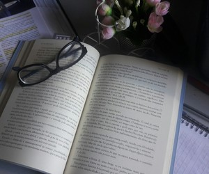 flor, leitura, and flores image